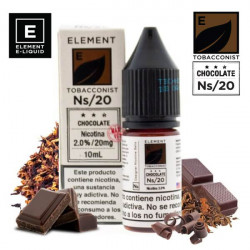 E-líquido Element Salts Tobacconist Chocolate 20mg/ml 10ml