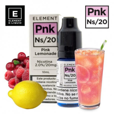 E-líquido Element Salts Pink Lemonade 20mg/ml 10ml