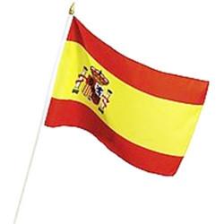 Bandera de España con Asta (60 x 90 cm)