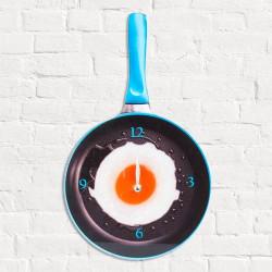 Reloj de Pared Sartén con Huevo Frito