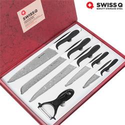 Cuchillos Revestimiento Piedra Swiss Q (6 Piezas)