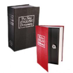 Caja de Caudales Camuflada en Libro Diccionario Rojo