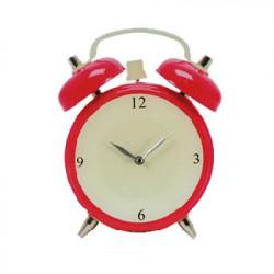 Reloj de Pared de Cristal Despertador Rosa