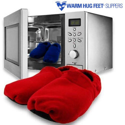 Zapatillas Microondas Warm Hug Feet Rojo
