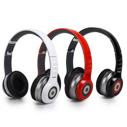Auriculares Bluetooth Acolchados AudioSonic HP1647 Rojo