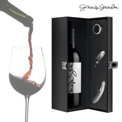 Estuche de Vino con Accesorios Summum Sommelier (4 piezas)