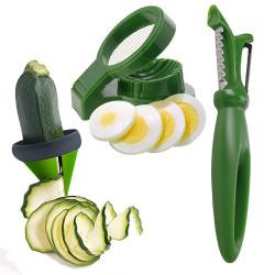 Utensilios de Cocina para Guarnición de Verduras (3 piezas)