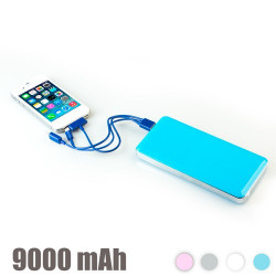 Power Bank Alta Capacidad 9000 mAh Plata