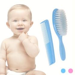 Peine y Cepillo para Bebés Rosa