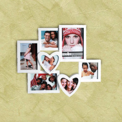 Portafotos Romántico con Corazones (7 fotos)