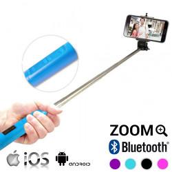 Monopié Bluetooth con Zoom para Selfies Azul