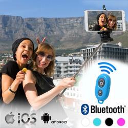 Monopié para Selfies con Mando Bluetooth Rosa