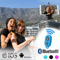 Monopié para Selfies con Mando Bluetooth Negro