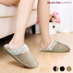 Zapatillas de Casa Relax Fur Negro 37