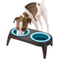 Comedero para Perros Doble Azul